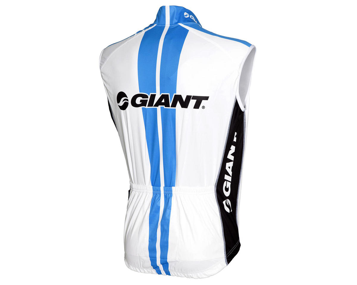 Giant Hincapie Men's Team Bike Vest (White/Blue/Black) (2XL)