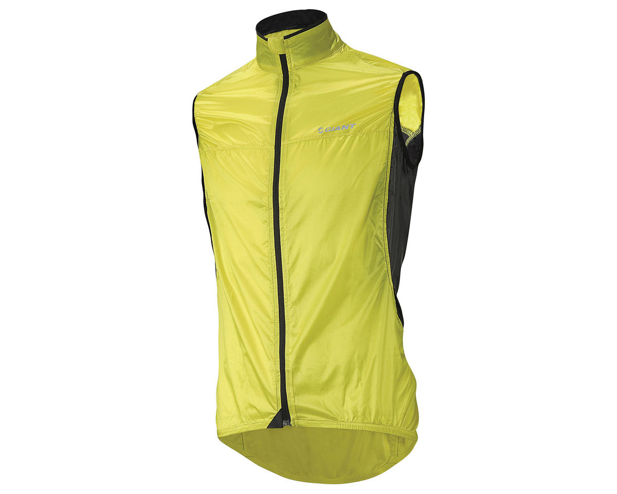 Yellow Blue Black Giant Superlight Mens Cycling Wind Vest