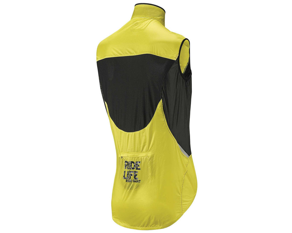 Giant SuperLight Wind Bike Vest (Black) (Yellow) (2XL)