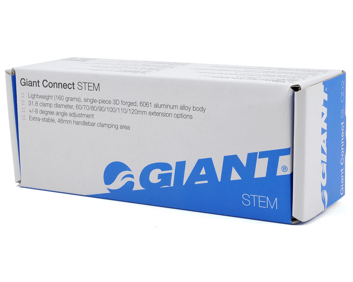 """Giant Connect 1-1/8"""" Stem (+/-8° Rise) (Black/Silver) (100mm)"""