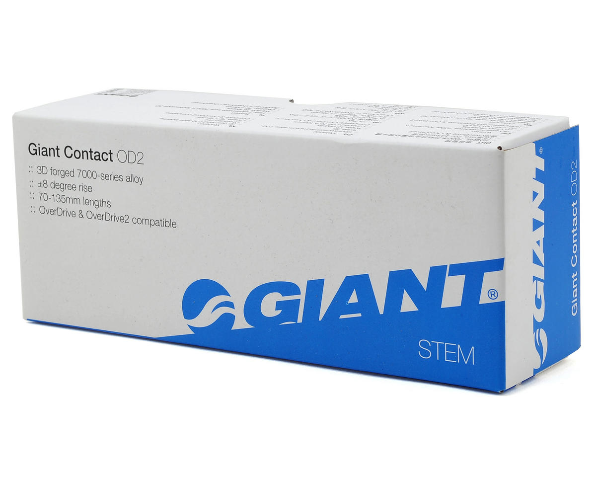 Giant Contact OD2 Stem (+/-8° Rise) (White/Black) (110mm)