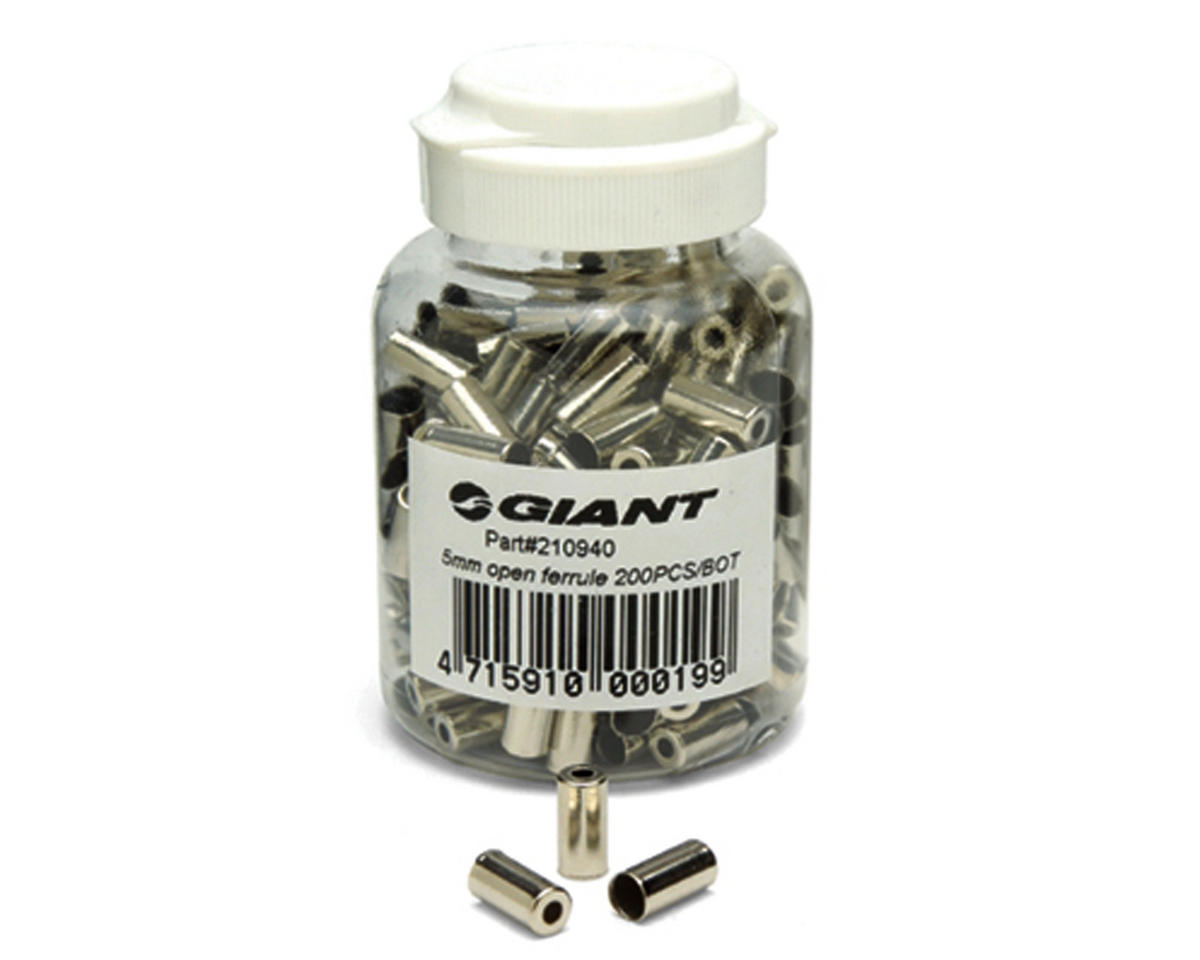 Giant 5mm Brass Housing Ferrules (Silver) (200)