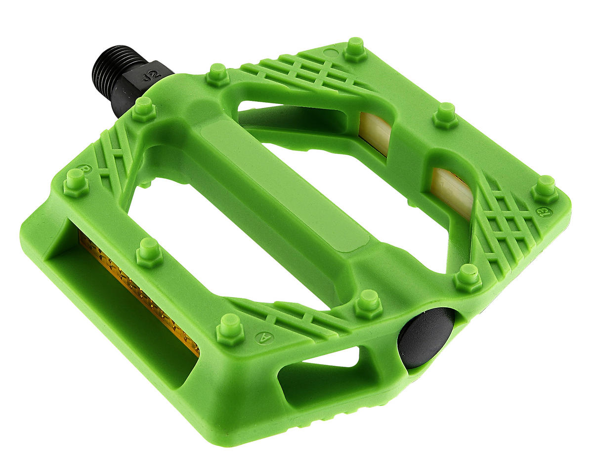 "Giant Plastic Platform Pedals (9/16"" Axle) (Light Green)"