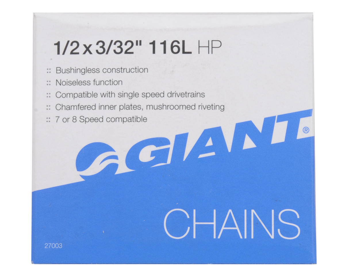 "Giant HP 3/32"" 7/8-Speed Chain (116 Link) (Silver/Brown)"