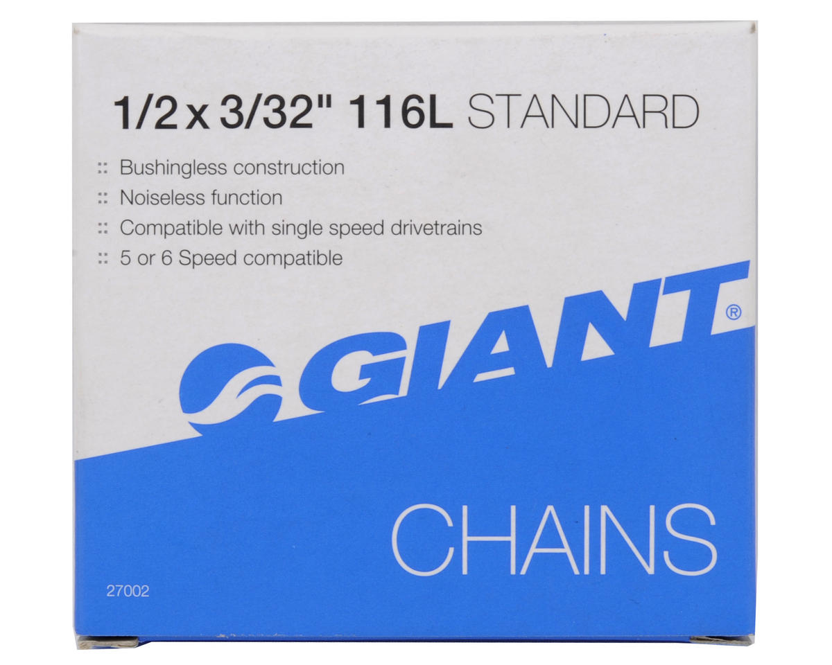"Giant Standard 3/32"" 5/6-Speed Chain (116 Link) (Brown/Silver)"