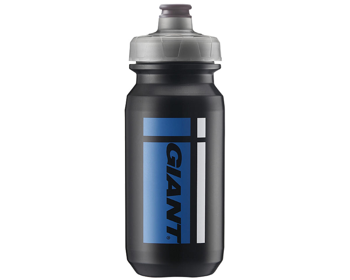 Giant PourFast AutoSpring Bike Bottle (20oz) (Black/Blue Logo)