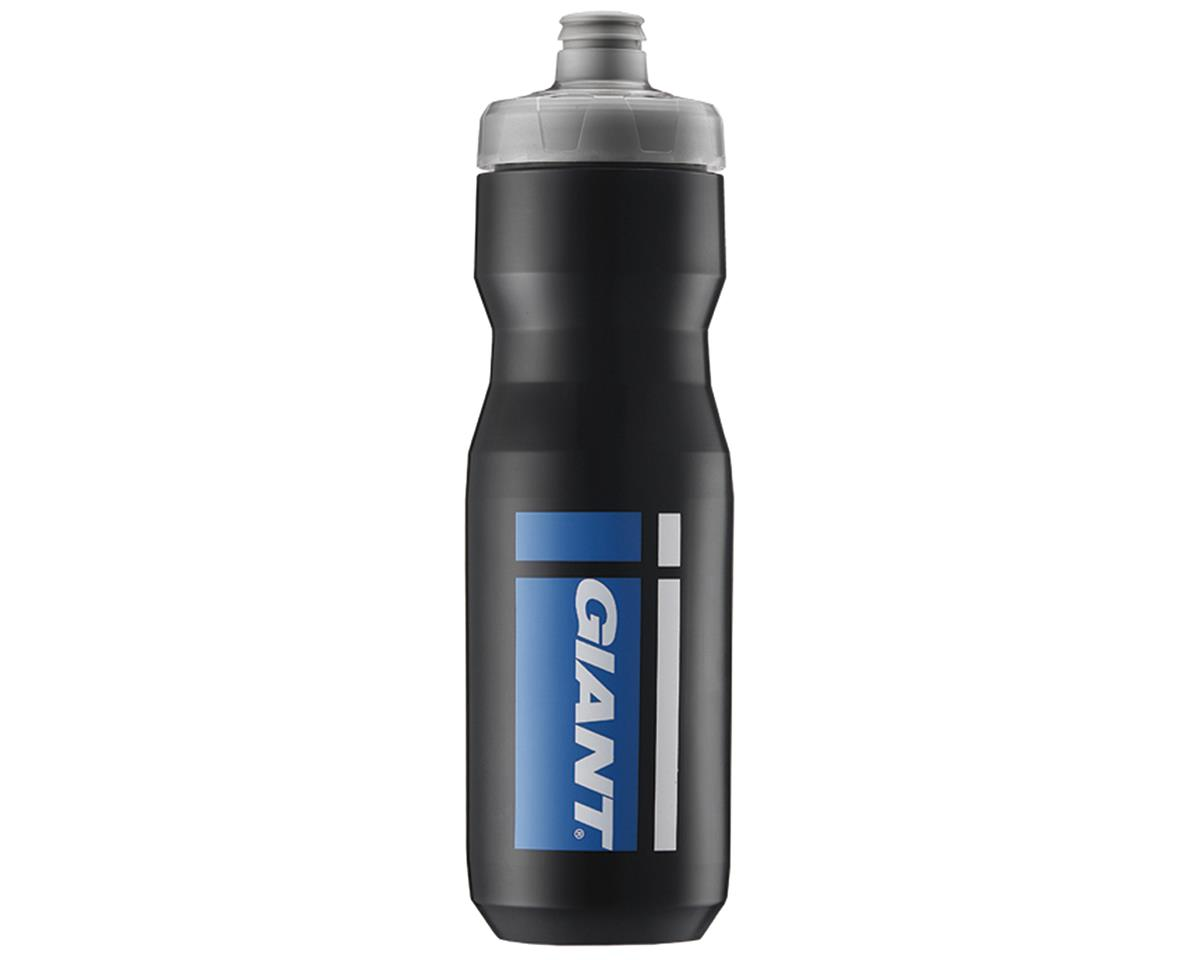 Giant PourFast AutoSpring Bike Bottle (25oz) (Black/Blue Logo)