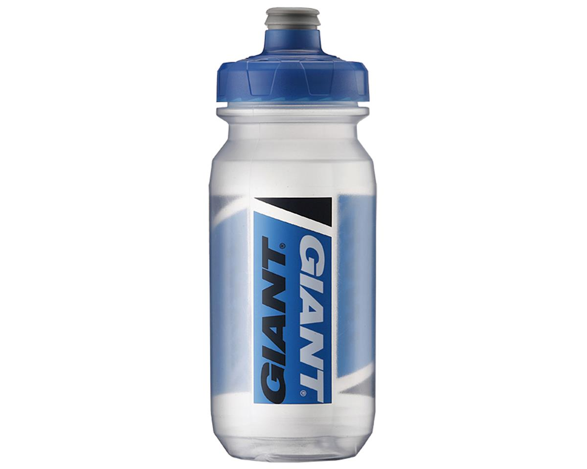 Giant PourFast AutoSpring Bike Bottle (20oz) (Clear/Blue Logo)
