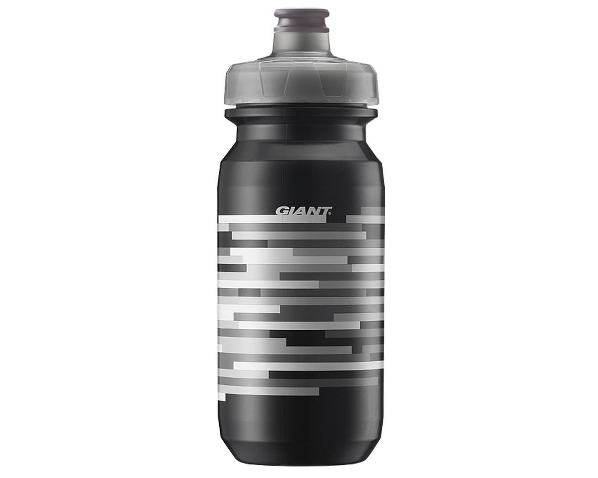 Giant PourFast AutoSpring Bike Bottle (20oz) (Black/Grey Lines)