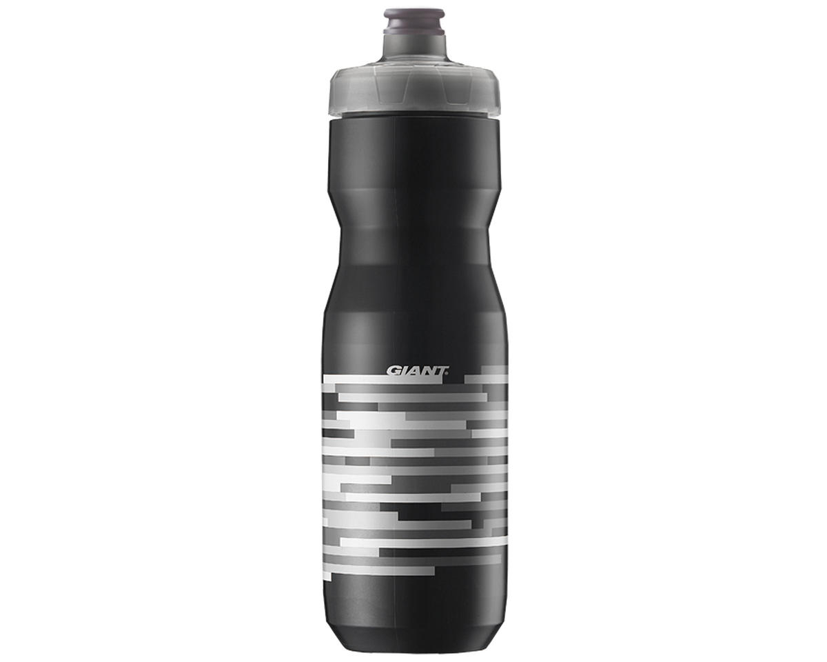 Giant PourFast AutoSpring Bike Bottle (25oz) (Black/Grey Lines)