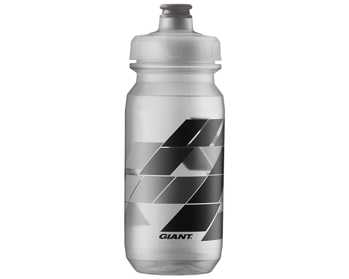 Giant PourFast AutoSpring Bike Bottle (20oz) (Clear/Grey Blocks)