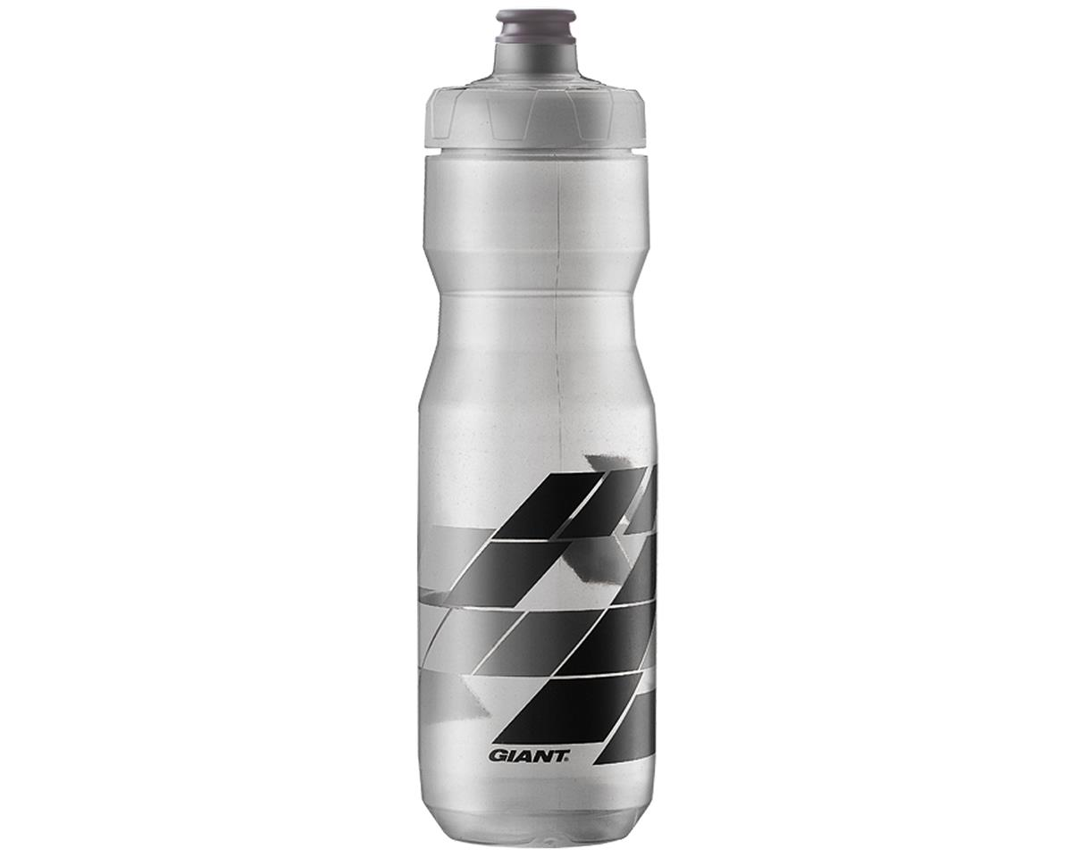 Giant PourFast AutoSpring Bike Bottle (25oz) (Clear/Grey Blocks)