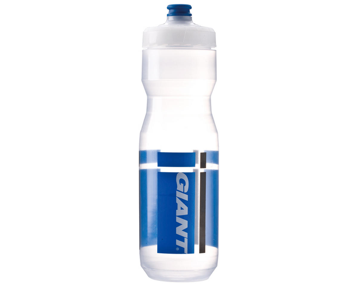 Giant PourFast DualSpring Bike Bottle (25oz) (Clear/Blue Logo)