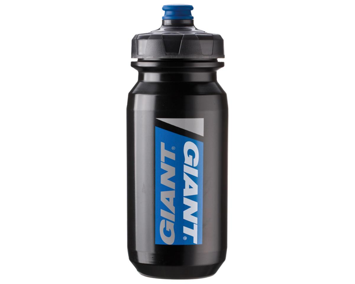 Giant PourFast DualSpring Bike Bottle (20oz) (Black/Blue Logo)