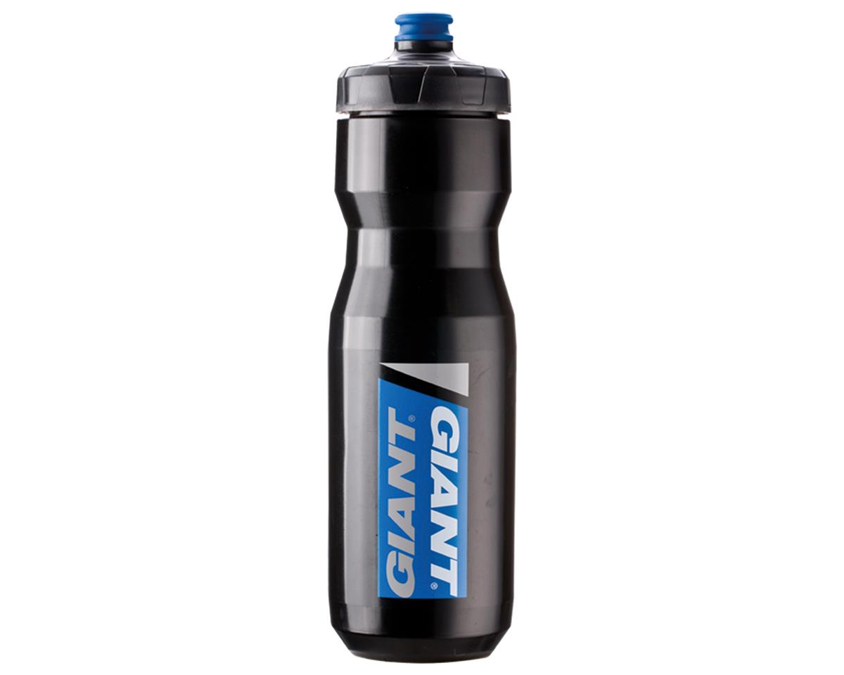 Giant PourFast DualSpring Bike Bottle (25oz) (Black/Blue Logo)