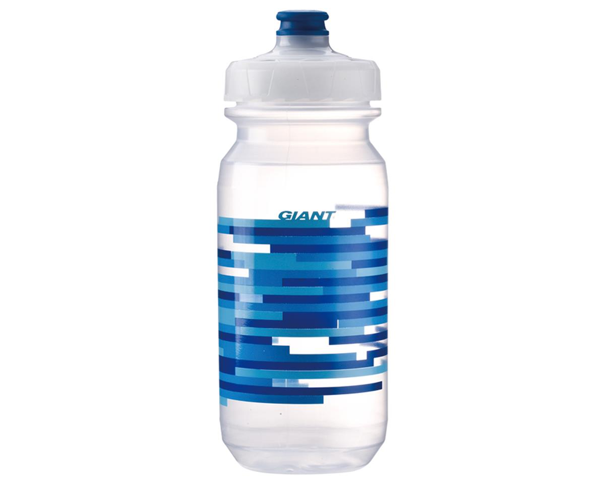 Giant PourFast DualSpring Bike Bottle (20oz) (Clear/Blue Lines)