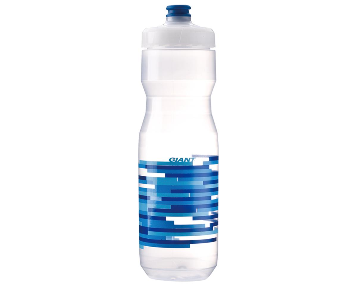 Giant PourFast DualSpring Bike Bottle (25oz) (Clear/Blue Lines)