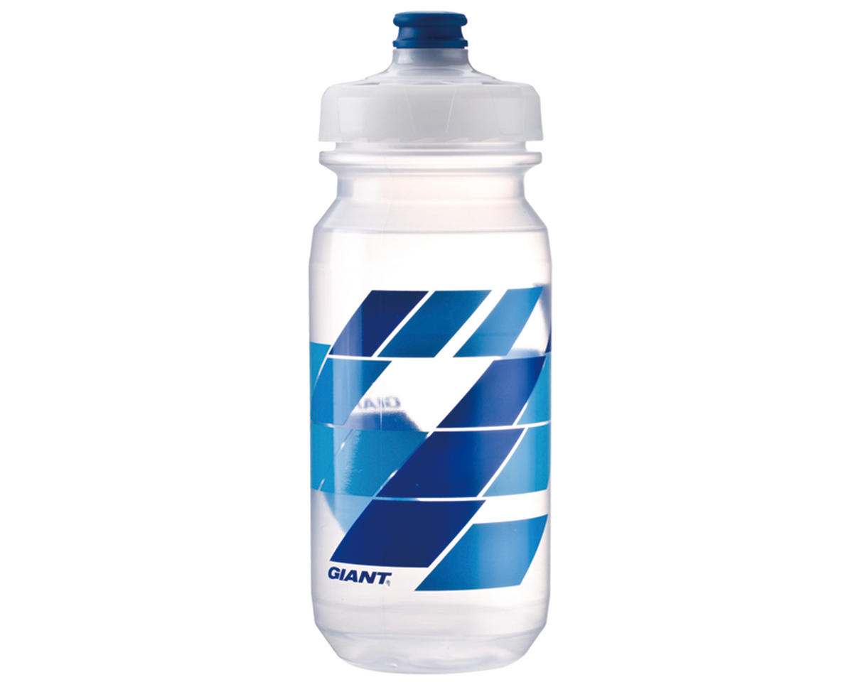Giant PourFast DualSpring Bike Bottle (20oz) (Clear/Blue Blocks)
