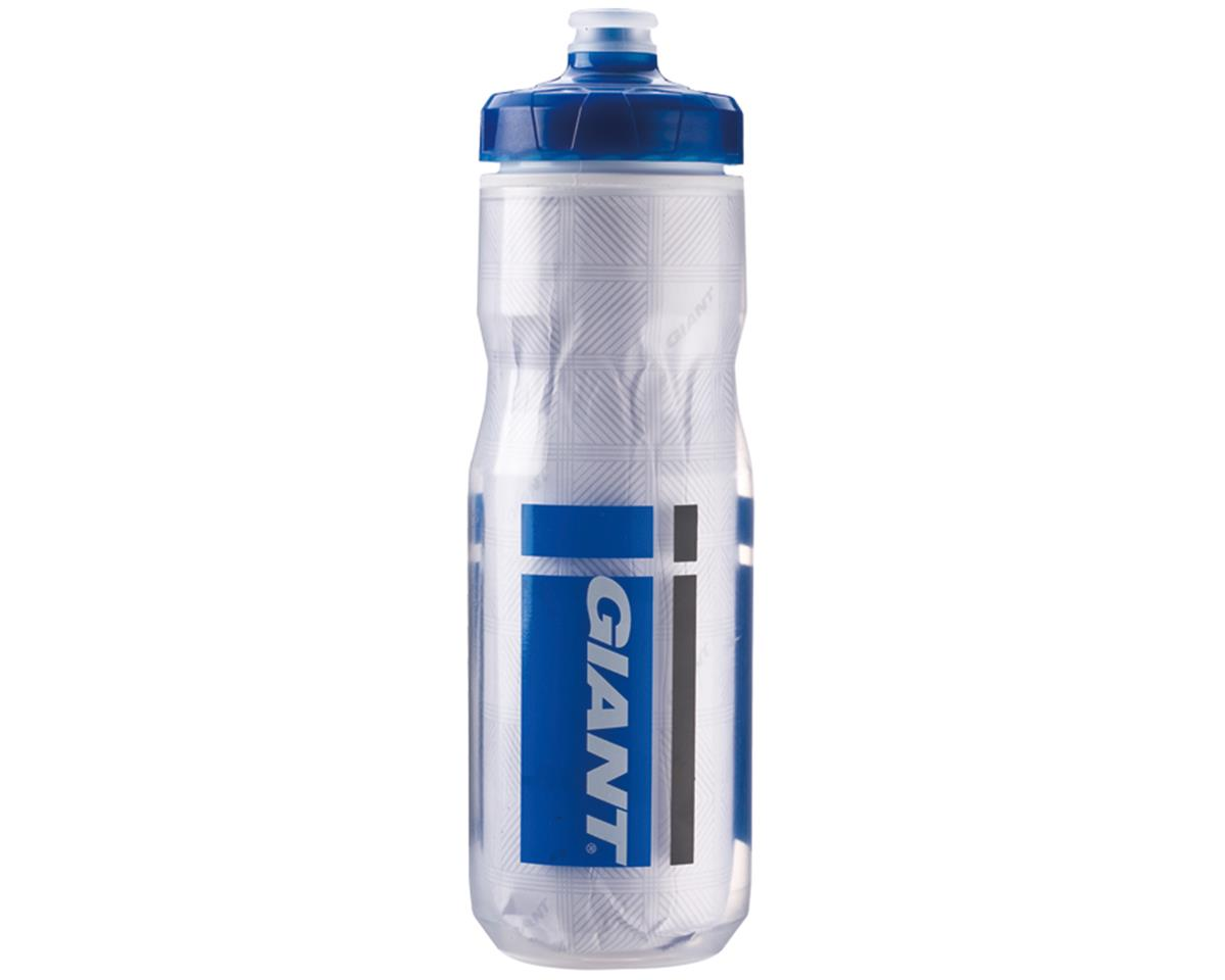 Giant PourFast EverCool DualSpring Insulated Bike Bottle (20oz) (Clear/Blue Logo)