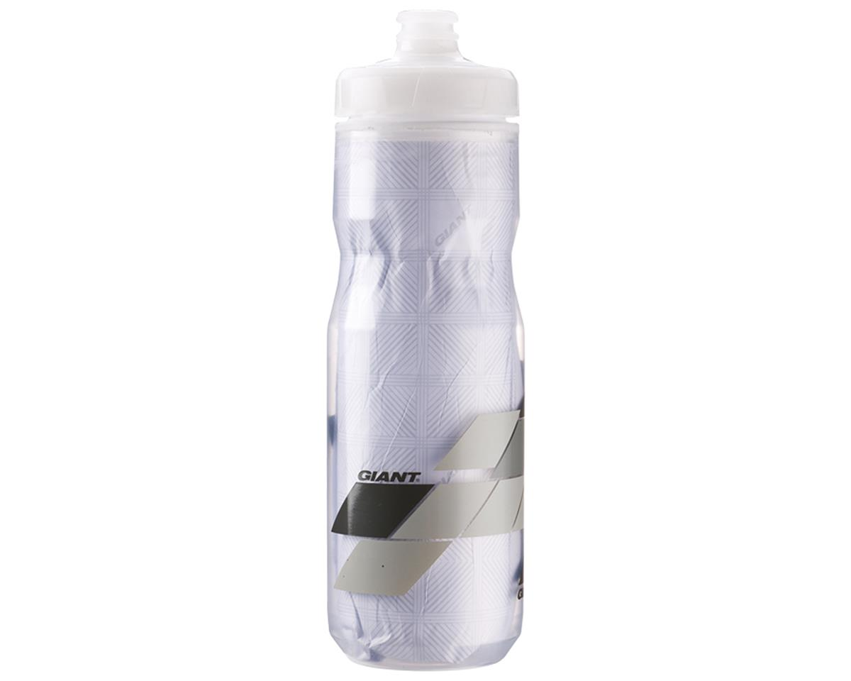 Giant PourFast EverCool DualSpring Insulated Bike Bottle (20oz) (Clear/Grey Blocks)