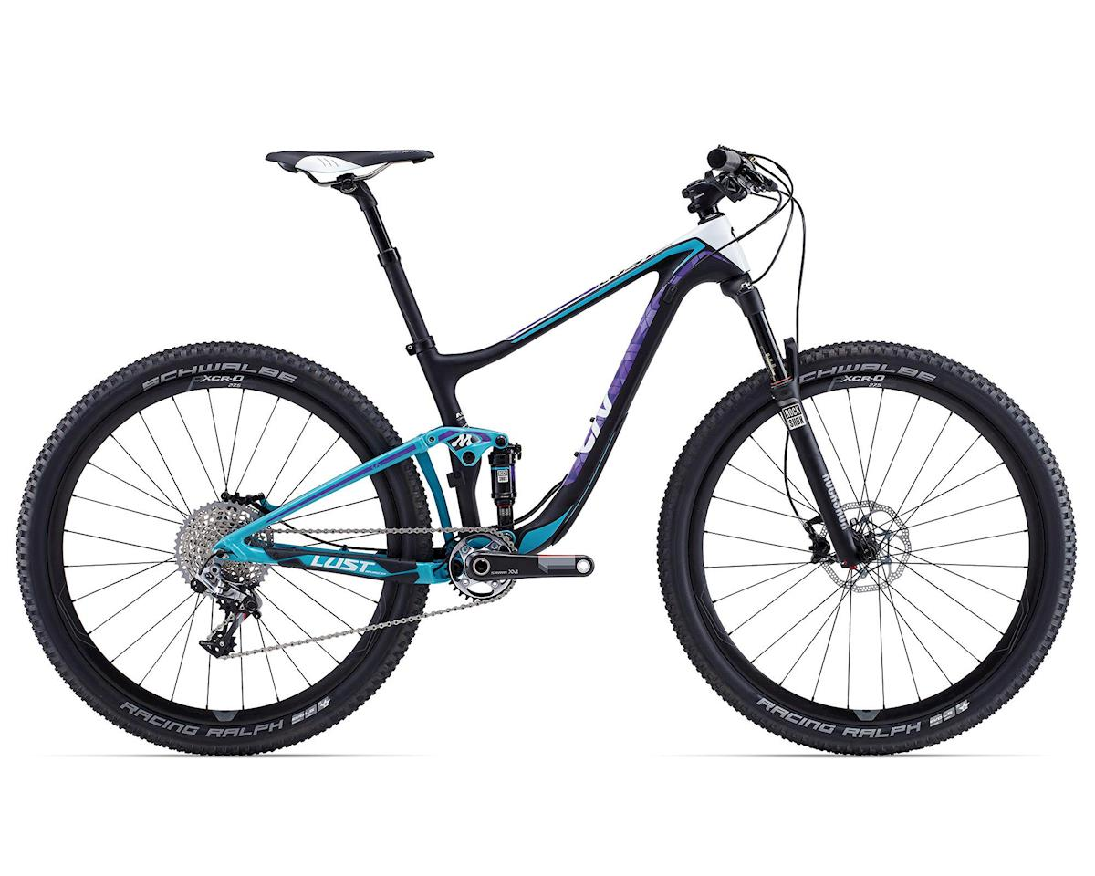 Giant Lust Advanced 0 Women's Carbon Full Suspension Mountain Bike (2015) (Composite/Blue)