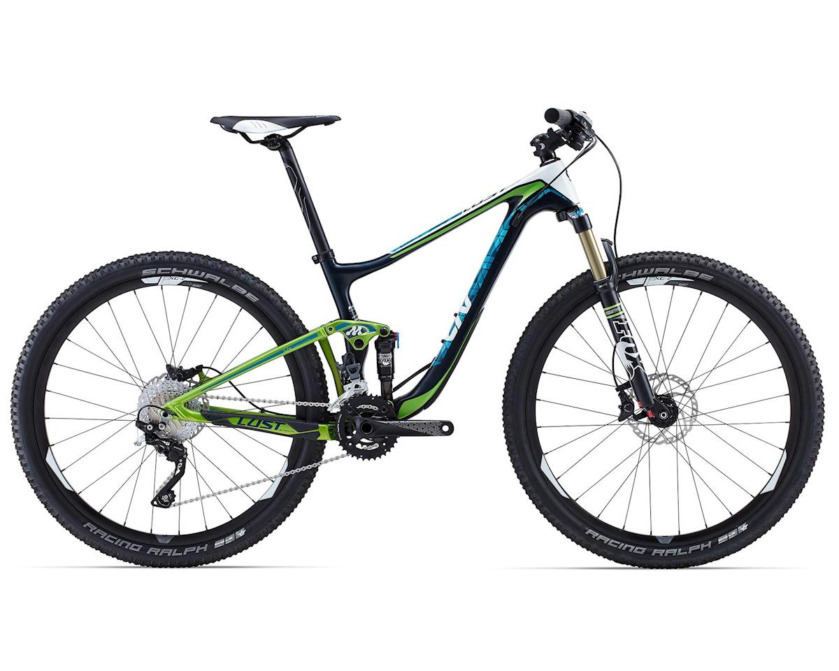 Giant Lust Advanced 2 Women's Carbon Full Suspension Mountain Bike (2015) (Dark Green/Light Gree