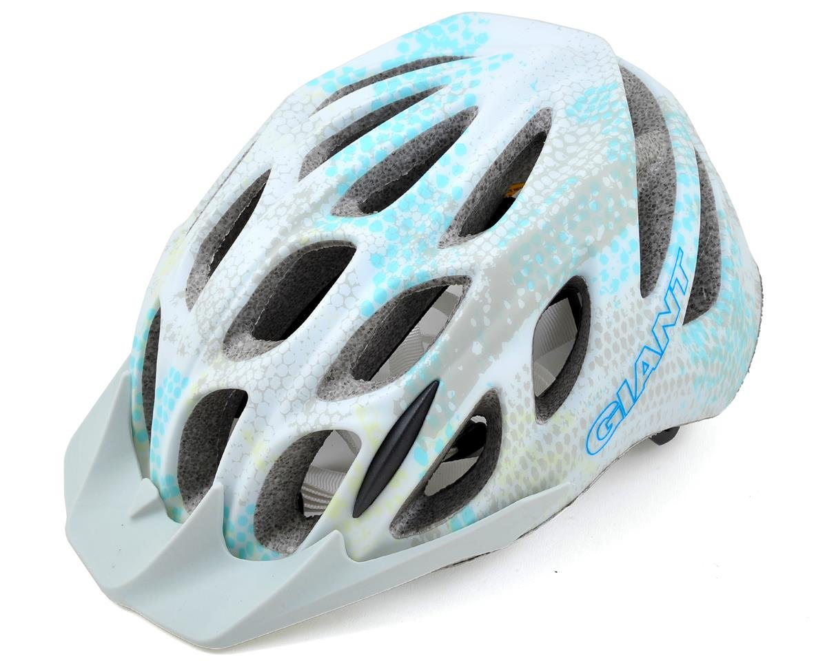 Giant Realm Helmet (White/Blue Honeycomb) (S)