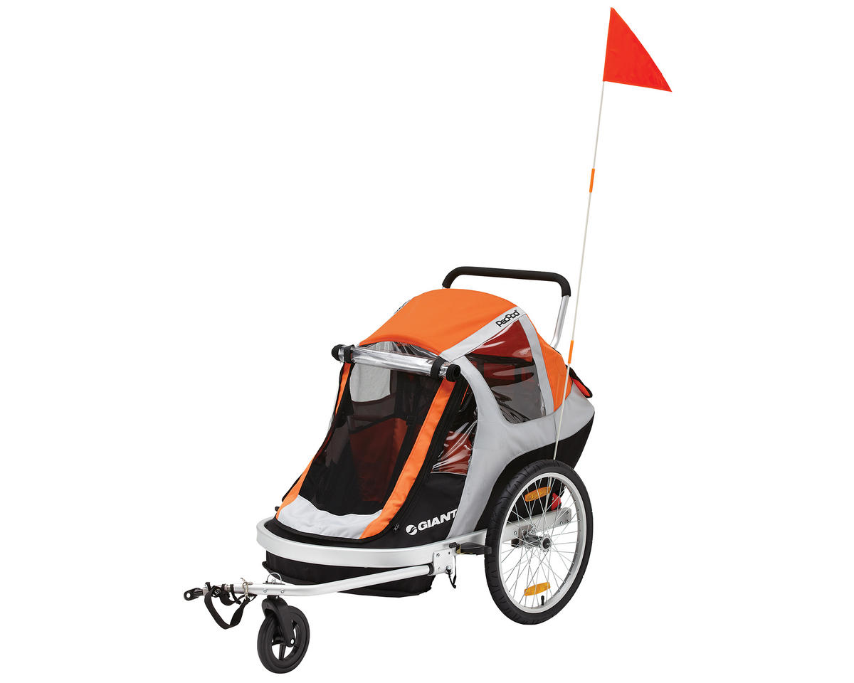 Giant PeaPod Solo Child Bike Trailer (Orange)