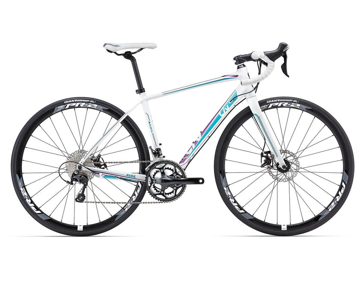 Liv/Giant Avail 1 Disc Women's Road Bike (2016) (White/Purple/Teal)