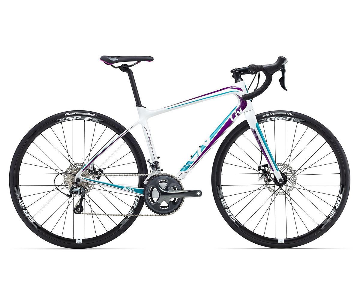 Liv/Giant Avail Advanced 3 Women's Road Bike (2016) (White/Purple/Teal)