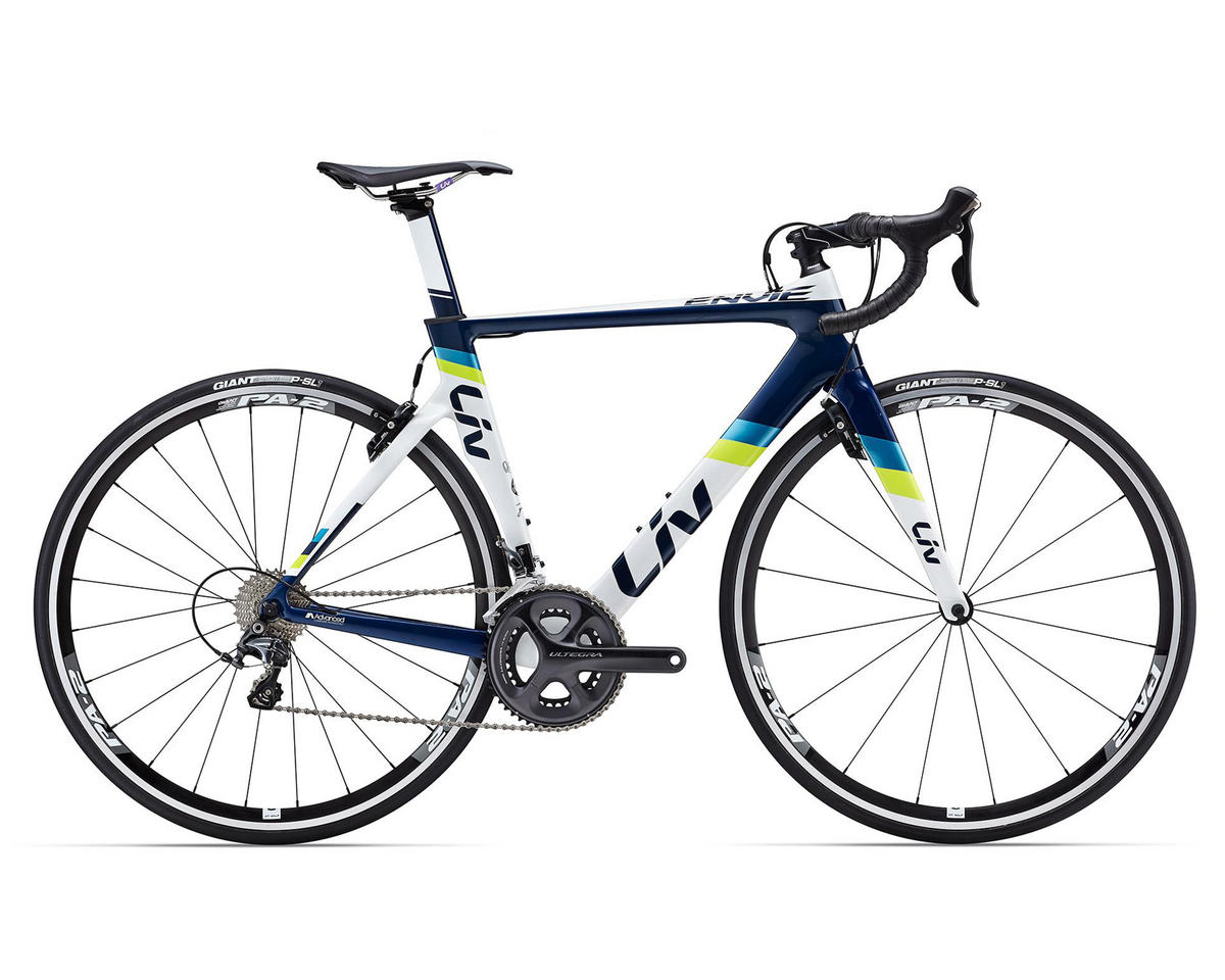 Liv/Giant Envie Advanced 1 Women's Aero Road Bike (2016) (White/Blue/Lime)