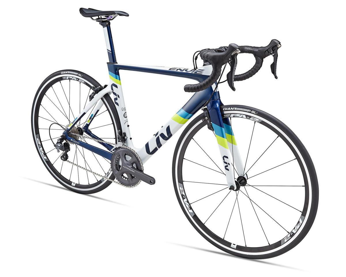 Liv/Giant Envie Advanced 1 Women's Aero Road Bike (2016) (White/Blue/Lime)