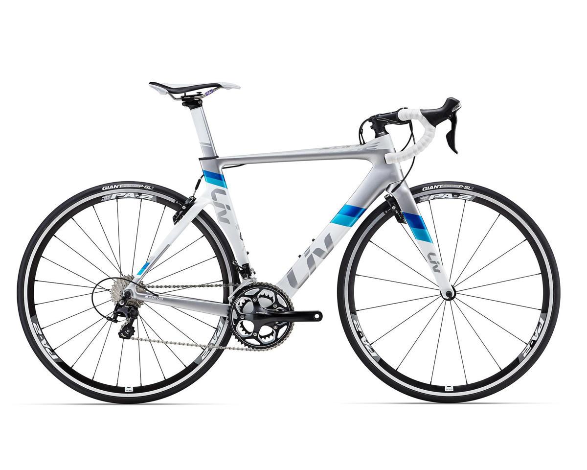 Liv/Giant Envie Advanced 2 Women's Aero Road Bike (2016) (White/Silver/Turquoise)