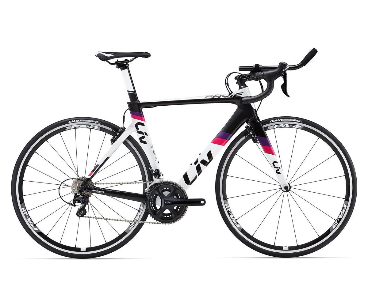 Liv/Giant Envie Advanced 2 TRI Women's Aero Bike (2016) (White/Composite/Fuchsia)