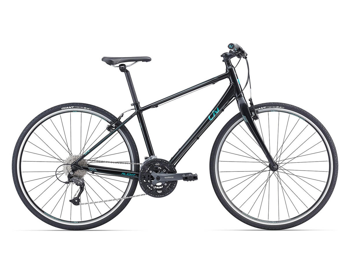 Liv/Giant Alight 1 Women's Town Bike (2016) (Black/Green)