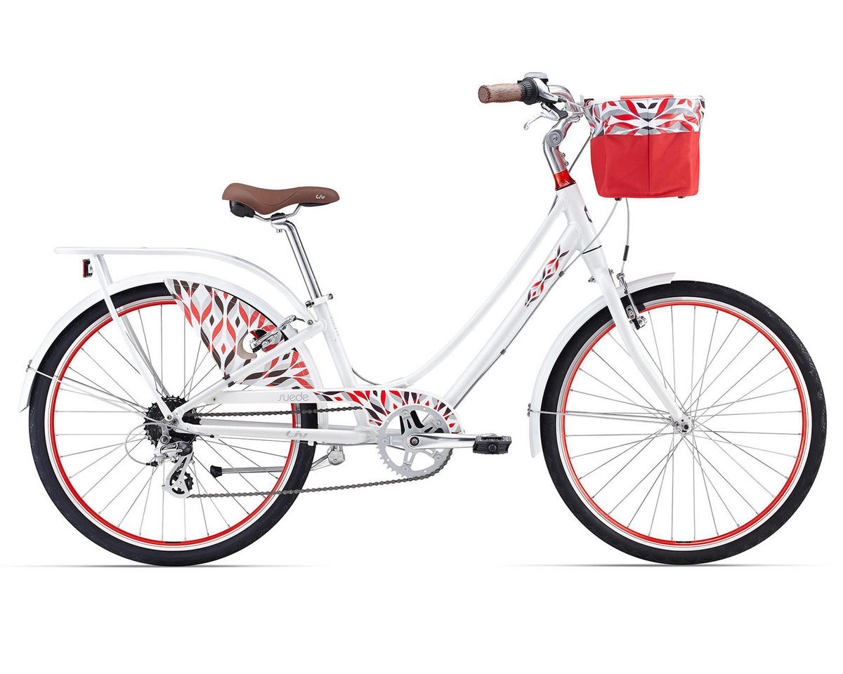 Liv/Giant Suede 1 Women's Town Bike (2016) (White/Red)