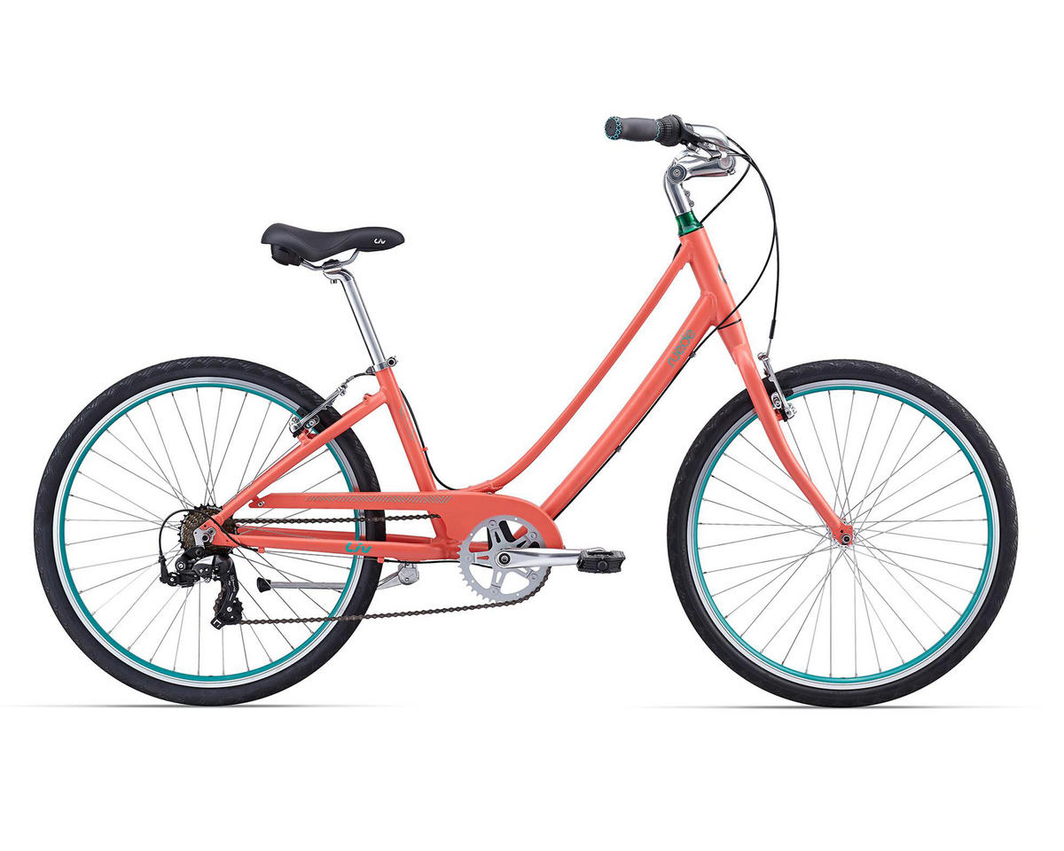 Liv/Giant Suede 2 Women's Town Bike (2016) (Coral/Green)
