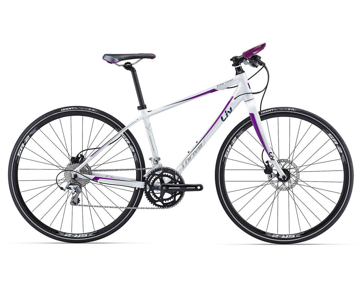 Liv/Giant Thrive 1 Women's Flat Bar Road Bike (2016) (White/Purple)