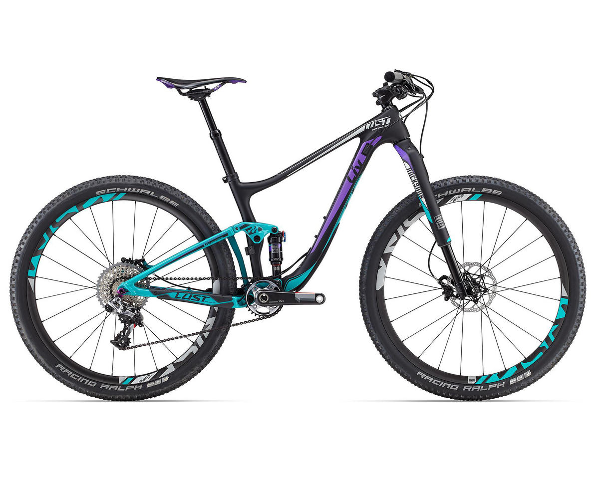 Liv/Giant Lust Advanced 0 Women's MTB (2016) (Matte Composite/Purple/Teal)