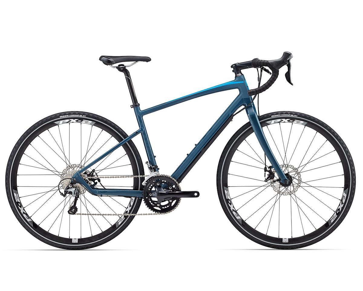 Giant Revolt 1 Gravel Bike (2016) (Matte Grey/Green/Blue)