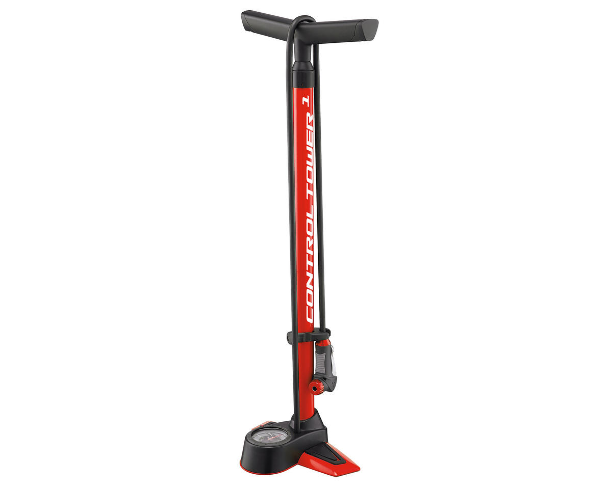 Giant Control Tower 1 Floor Bike Pump (Red)