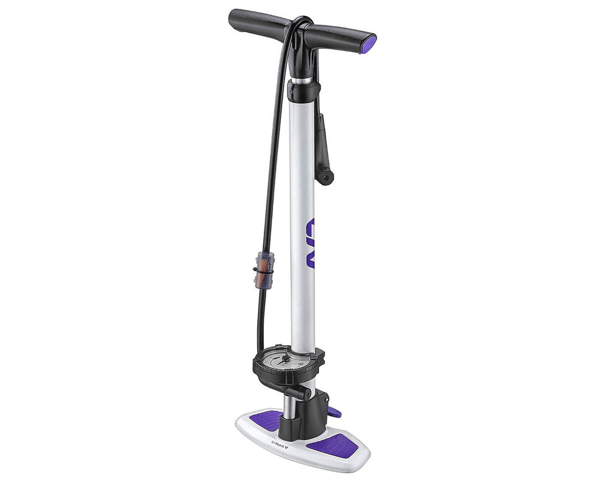 Liv/Giant Control Tower 2 HP/HV Floor Pump (White/Purple)