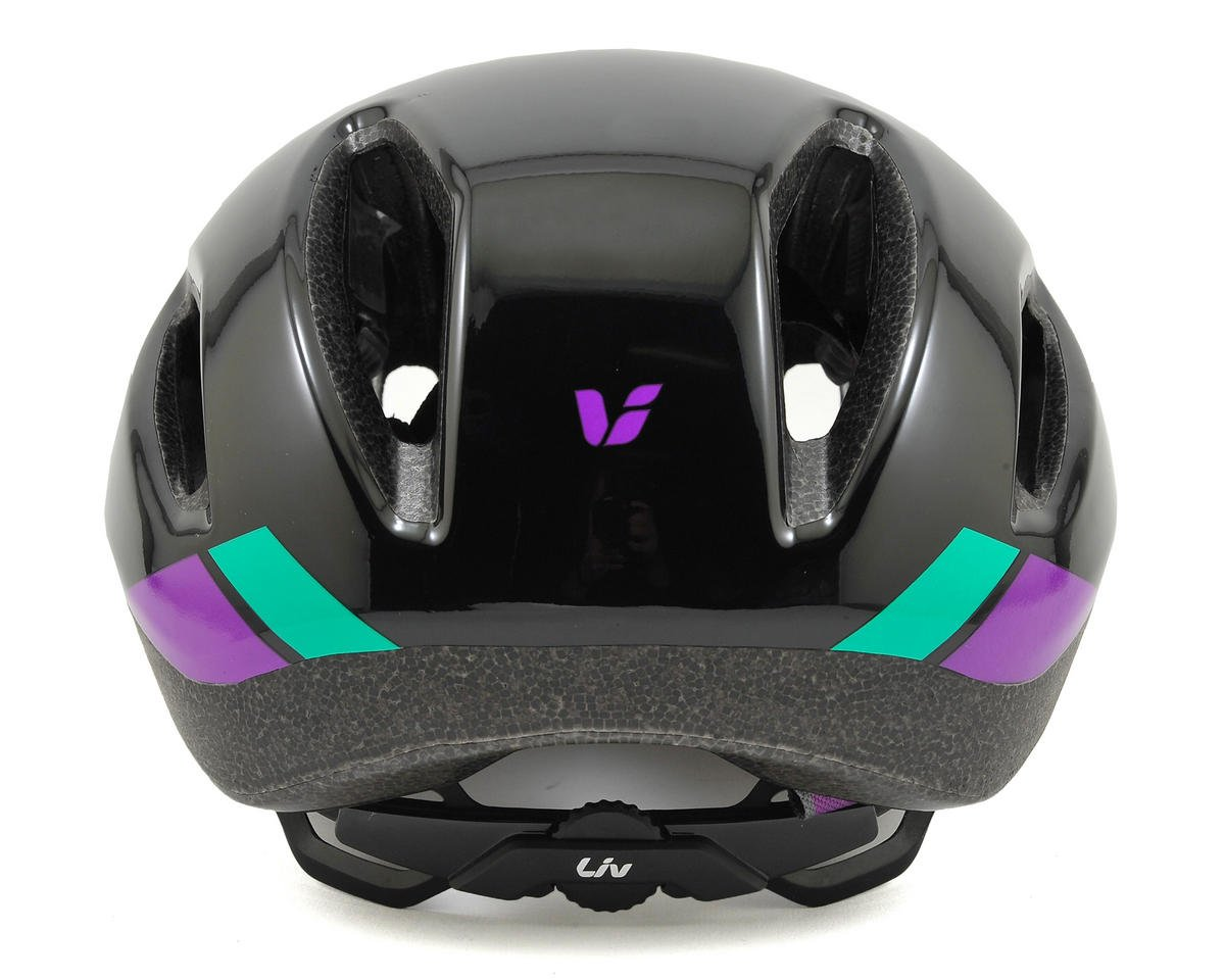 Liv/Giant Attacca Women's Aero Road Helmet (Black/Purple) (S)