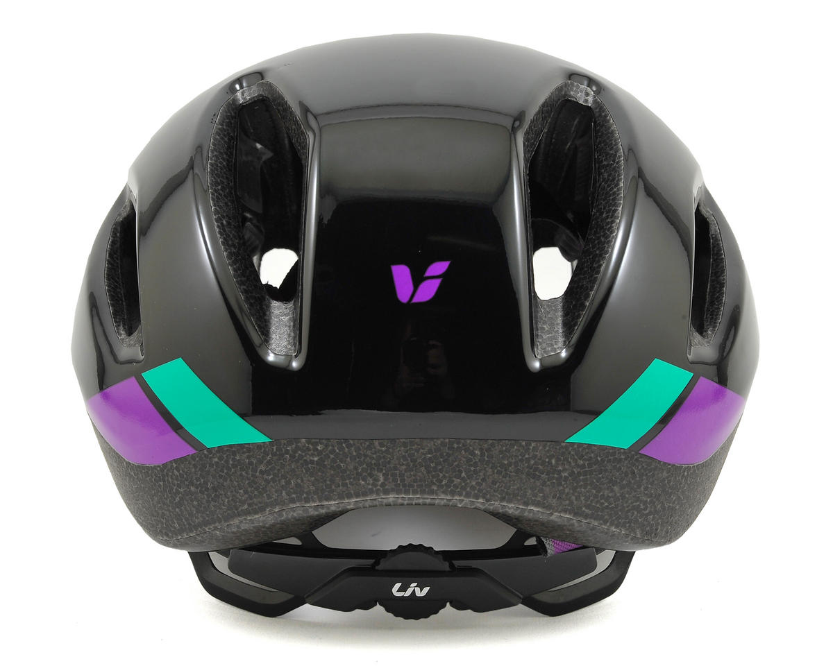 Liv/Giant Attacca Women's Aero Road Helmet (Black/Purple) (L)
