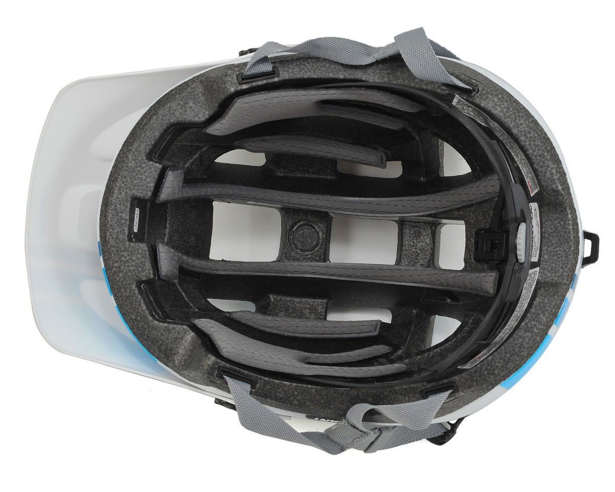 Giant Rail MTB Helmet (White/Blue) (S)