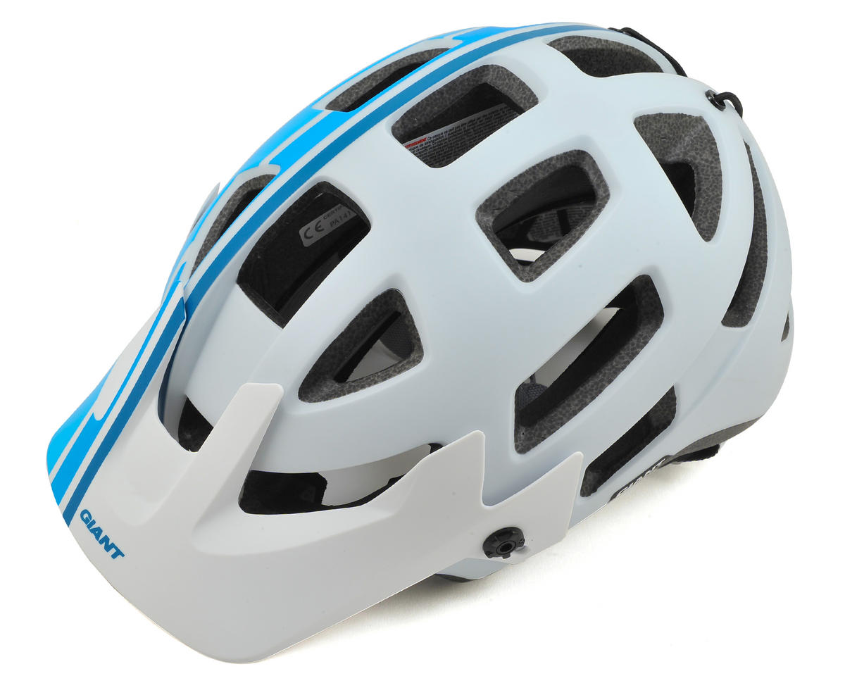 Giant Rail MTB Helmet (White/Blue) (M)