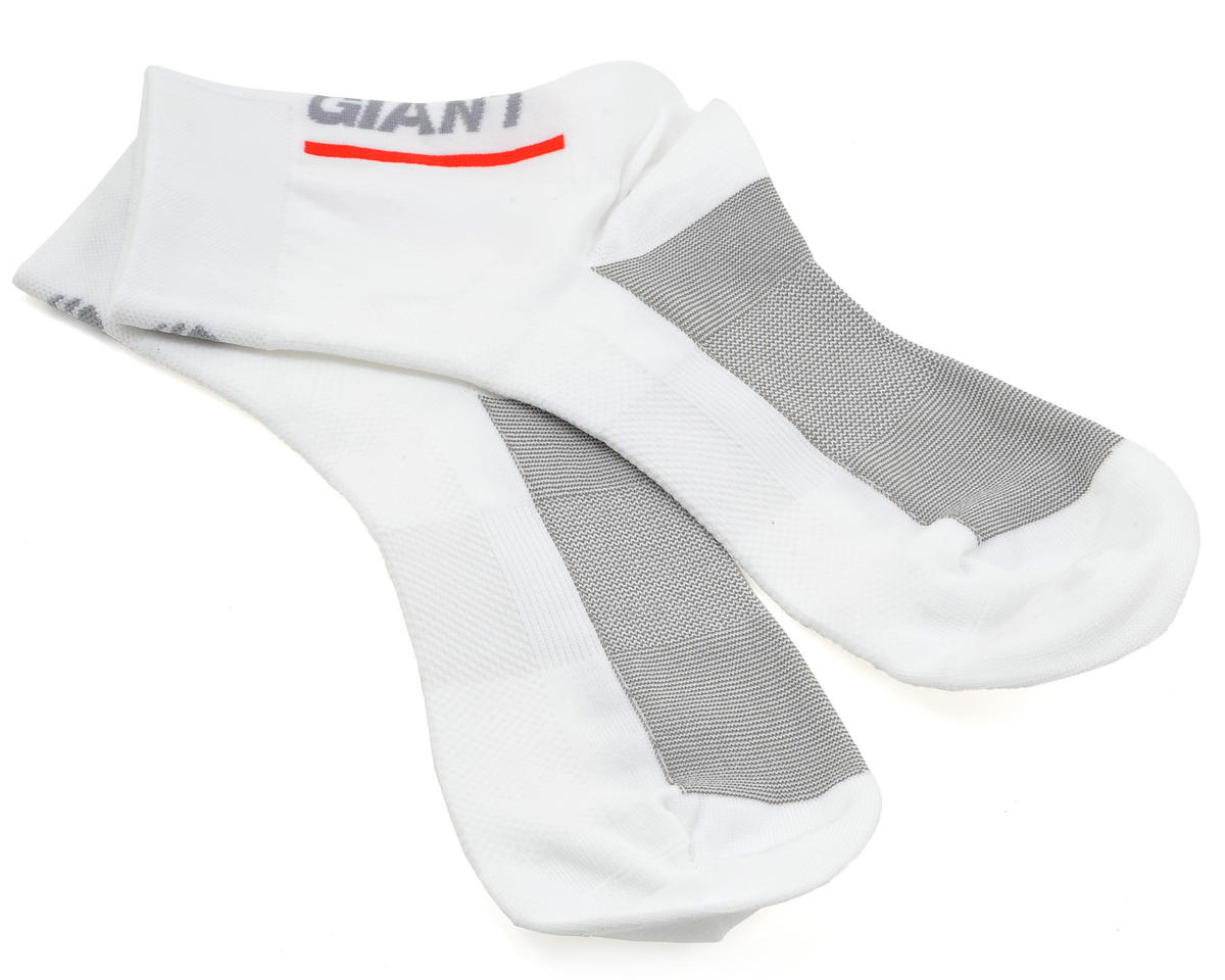 Giant Rev Lite Quarter Cycling Socks (White) (S)