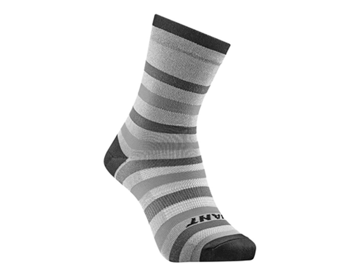 M GIANT Elevate Cycling Sport Calf Socks L White Black S
