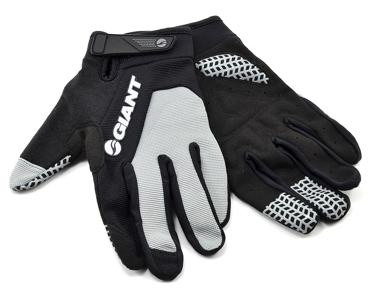 Giant Horizon Long Finger Bike Gloves (Grey) (S)