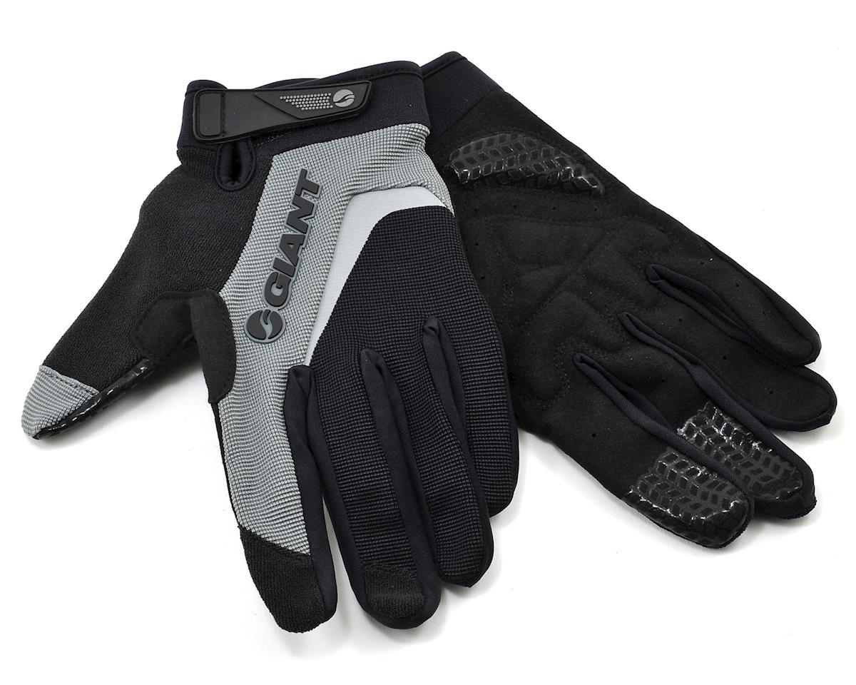 Giant Horizon Long Finger Bike Gloves (Black) (S)